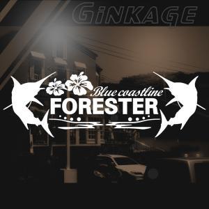 スバル フォレスター 車 ステッカー かっこいい メーカー ハワイアン エンブレム カッティング ステッカー|ginkage