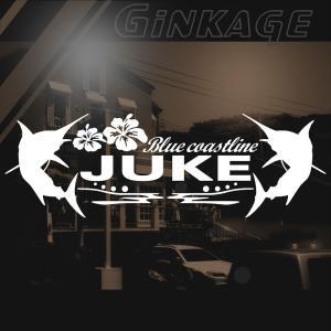 日産 ジューク 車 ステッカー かっこいい メーカー ハワイアン エンブレム カッティング ステッカー|ginkage