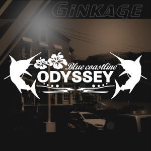 ホンダ オデッセイ 車 ステッカー かっこいい メーカー ハワイアン エンブレム カッティング ステッカー|ginkage