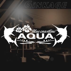 トヨタ アクア 車 ステッカー かっこいい メーカー ハワイアン エンブレム カッティング ステッカー|ginkage