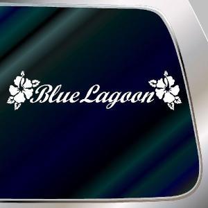 ハワイアン ハイビスカス ステッカー :10cm×40cm  ステッカー ハイビスカス ハワイアン グッズ ハワイアン 雑貨  ステッカー 車|ginkage