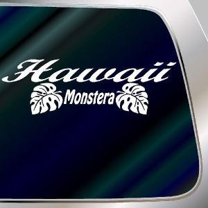 ハワイアン モンステラ ステッカー サイズ:21cm×60cm ステッカー モンステラ ハワイアン グッズ ハワイアン 雑貨  ステッカー 車|ginkage