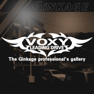 TOYOTA VOXY トヨタ ヴォクシー かっこいい 車 ステッカー オリジナル メーカー ロゴ エンブレム リアガラス用 ginkage