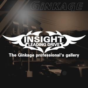 HONDA ホンダ インサイト かっこいい 車 ステッカー オリジナル メーカー ロゴ エンブレム リアガラス用 ginkage