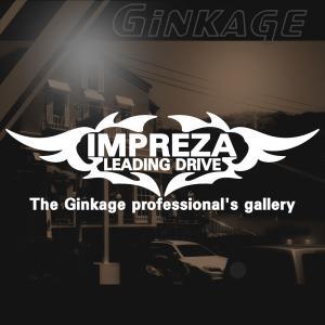 SUBARU スバル インプレッサ かっこいい 車 ステッカー オリジナル メーカー ロゴ エンブレム リアガラス用 ginkage