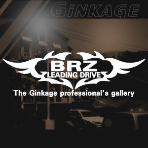 SUBARU BRZ スバル BRZ かっこいい 車 ステッカー オリジナル メーカー ロゴ エンブレム ステッカー リアガラス用 ginkage