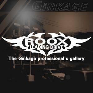 NISSAN ニッサン ルークス かっこいい 車 ステッカー オリジナル メーカー ロゴ エンブレム リアガラス用 ginkage