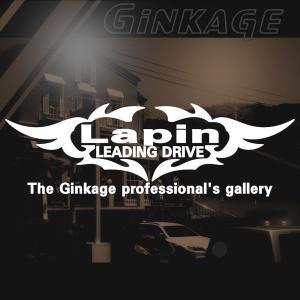 SUZUKI スズキ ラパン かっこいい 車 ステッカー オリジナル メーカー ロゴ エンブレム リアガラス用 ginkage