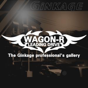SUZUKI スズキ ワゴンR かっこいい 車 ステッカー オリジナル メーカー ロゴ エンブレム リアガラス用 ginkage