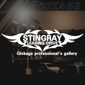 SUZUKI スズキ スティングレー かっこいい 車 ステッカー オリジナル メーカー ロゴ エンブレム リアガラス用 ginkage
