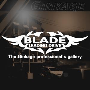 TOYOTA トヨタ ブレイド かっこいい 車 ステッカー オリジナル メーカー ロゴ エンブレム リアガラス用 ginkage