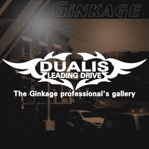 NISSAN ニッサン デュアリス かっこいい 車 ステッカー オリジナル メーカー ロゴ エンブレム リアガラス用 ginkage