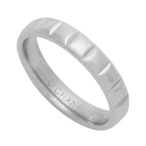 新品仕上げ CHANEL シャネル PT950プラチナ ショコラリング 指輪 10号 シャネル リング/指輪 エンゲージリング/ウエディングリング|ginkura