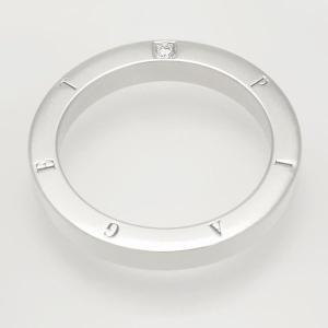 新品仕上げ PIAGET ピアジェダイヤリング#48(8号)Pt950リングピアジェ フラットリングポセションリング 1P ダイヤ Pt950 送料無料 中古 返品保証|ginkura