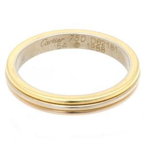 新品仕上げ Cartier カルティエ トリニティ ウェディングリング/指輪 #54(約13.5号) K18YG/WG/PG スリーゴールド トリニティリング 750YG/WG/PG スリー|ginkura