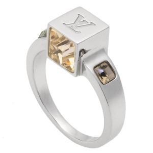 LOUIS VUITTON ルイヴィトン バーグギャンブルM リング/指輪 約10号 M65229 シルバー×マルチカラー スワロフスキー×真鍮 ジュエリー/アクセサリー/小|ginkura