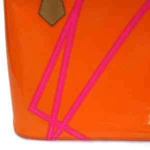 LOUIS VUITTON ルイヴィトン モノグラム ヴェルニ フルオ ヒューストン オレンジ×ピンク×ゴールド金具 M91935 2002年クリスマス限定 トートバッグ ginkura 02