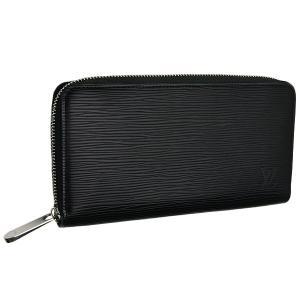 new product e659d bc6df 美品 LOUIS VUITTON ルイヴィトン エピ ジッピーウォレット/長財布 ノワール/黒/ブラック×シルバー金具 M60072