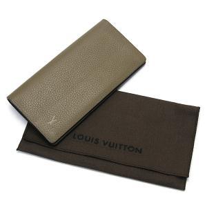 LOUIS VUITTON ルイヴィトン ポルトフォイユブラザ/二つ折り長財布 トリヨンレザー ベージュ×シルバー金具 M58803|ginkura|04