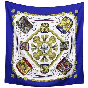 クリーニング済み 美品 HERMES エルメス カレ90/大判スカーフ/シルク100%スカーフ LES TAMBOURS タンブールの太鼓|ginkura