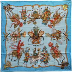未使用品 HERMES エルメス カレ90/大判スカーフ/シルク100%スカーフ LES FETES DU ROI SOLEIL 太陽王の祝典|ginkura
