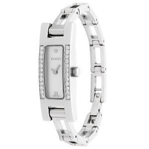 新品仕上げ GUCCI グッチ ブレスウォッチ ダイヤベゼル 2Pダイヤ シェル文字盤 3900L レディース腕時計 クオーツ|ginkura