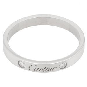 新品仕上げ Cartier カルティエ エングレーブドリング/エングレービング エンゲージリング 2Pダイヤ PT950プラチナ #63(約22号) リング/指輪 PT950 ダ|ginkura