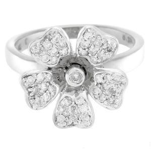 新品仕上げ Folli Follie フォリフォリ フラワーモチーフ ダイヤモンドリング K18WGホワイトゴールド ダイヤ0.33ct #52(日本サイズ約11.5号) フォリフォリ|ginkura