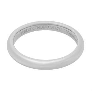 新品仕上げ CHAUMET ショーメ PT950プラチナ フィデリテリング 1Pダイヤ #60(実寸19号) ショーメ リング/指輪 PT950プラチナ ダイヤモンド ショーメ|ginkura