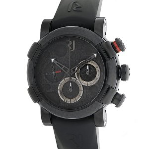未使用品 ROMAIN JEROME ロマンジェローム ムーンダスト クロノグラフ カーボンブラック 自動巻き RJ.M.CH.001.01 世界限定1969本 メンズ 腕時計|ginkura