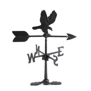 NEK116 【小型-イーグル-黒】鷲【米国製】ガーデン風見鶏 本格派カザミいつまでも美しい錆びないアルミ無垢材 屋根用【送料無料】|ginnofune-y|03