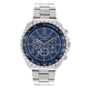 POLICE ポリス シルバー ネイビー ブルー ウォッチ 腕時計 アクセサリー ファッション 人気腕時計 ブランド時計 ステンレスバンド|ginnokura