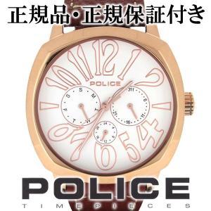POLICE 腕時計 メンズ ブランド ポリス トリノ ホワイト ピンク マルチファンクション メンズ腕時計 POLICE|ginnokura