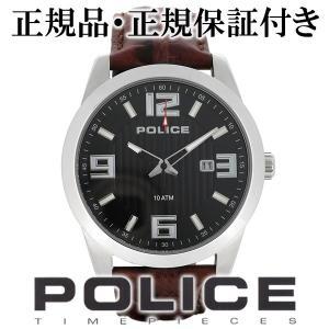 POLICE 腕時計 メンズ ブランド ポリス トロフィー ブラック レザー 革ベルト メンズ腕時計 POLICE|ginnokura