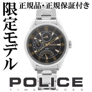 POLICE 腕時計 メンズ ブランド ポリス フラッシュ ブラック ゴールド マルチファンクション メンズ腕時計 POLICE|ginnokura