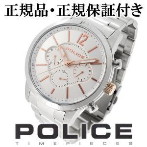 POLICE 腕時計 メンズ ブランド ポリス レガシー クロノグラフ ホワイト ローズゴールド メンズ腕時計 POLICE|ginnokura