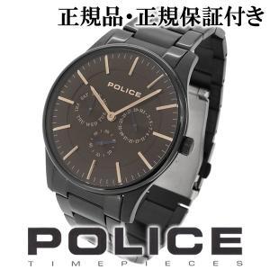 POLICE 腕時計 メンズ ブランド COURTESY コーテシー ブラック ブラウン メンズ腕時計 POLICE ginnokura