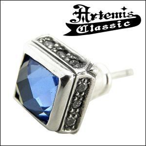 アルテミスクラシック Artemis Classic ピアス メンズ シルバー スクエア ブルークォーツ メンズピアス...