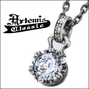 アルテミスクラシック Artemis Classic ネックレス メンズ シルバー クラウン ジルコニア メンズネックレス...