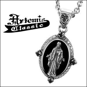 アルテミスクラシック Artemis Classic ネックレス メンズ シルバー 黒衣聖母 マリア オニキス メンズネックレス...