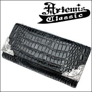 アルテミスクラシック Artemis Classic ウォレット イーグルコーナー クロコスタイル パープル レザーウォレット...