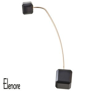 Elenore Jewelry 10金オニキスキューブピンピアス 片耳用 エレノアジュエリー K10 ゴールド ピアス スタッドピアス オニキス ジオ|ginnokura