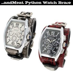 腕時計 レザーウォッチ メンズ パイソン レッド ホワイト ブランド レザー腕時計 メンズ ブレスレット ginnokura