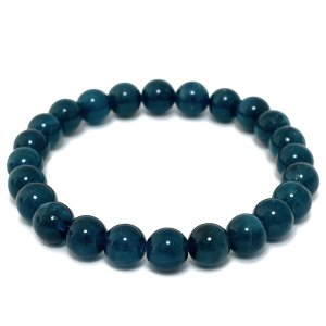 アパタイト ブレスレット 6.8mm 15.5cm 高品質 ブルーアパタイト 天然石 パワーストーン ブレスレット プレゼント|ginnokura