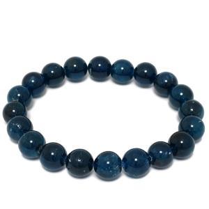 アパタイト ブレスレット 10mm 19cm 高品質 ブルーアパタイト 天然石 パワーストーン ブレスレット プレゼント|ginnokura