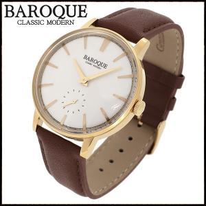 腕時計 メンズ ブランド バロック VECCHIO ベッキオ ブラウン ゴールド シンプル クラシック メンズ腕時計|ginnokura