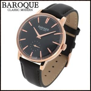 腕時計 メンズ ブランド バロック VECCHIO ベッキオ ブラック ローズゴールド シンプル クラシック メンズ腕時計|ginnokura