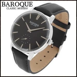 腕時計 メンズ ブランド バロック VECCHIO ベッキオ ブラック 黒 シンプル クラシック メンズ腕時計|ginnokura