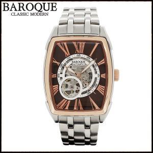 腕時計 メンズ 自動巻き スケルトン ブランド バロック TREVI ローズゴールド メンズ腕時計 自動巻き|ginnokura