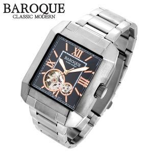 バロック QUADRO クアドロ ウォッチ(ブラック) BA2004S-02M 腕時計 ステンレスベルト レクタンギュラー バロック クアドロ ウォッチ|ginnokura